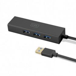 1LIFE 3-Port USB Hub 1IFEUSBHUB3 USB 3.0 Schwarz