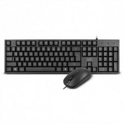 1LIFE Tastatur und optische Maus 1IFEKBCOREKITES USB Schwarz