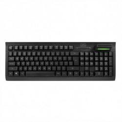 1LIFE Keyboard with Reader 1IFEKBSMTCRDES USB Black