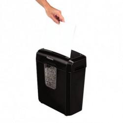 Fellowes Déchiqueteuse de Papier Coupe Fine 4687401 11 L 6 Feuilles Noir