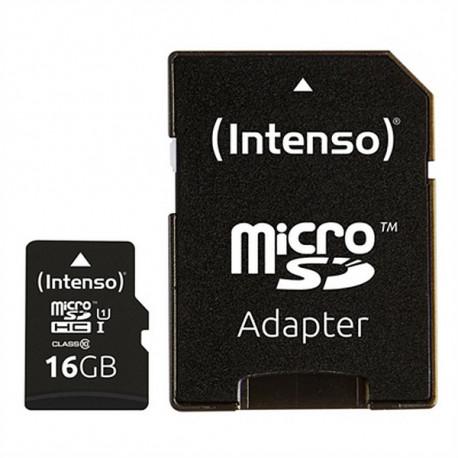 INTENSO Cartão de Memória Micro SD com Adaptador 34234 UHS-I Premium Preto 16 GB
