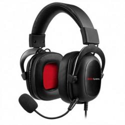 Mars Gaming MH5 conjunto de auscultadores e microfone Binaural Fita de cabeça Preto, Vermelho