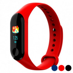 BRIGMTON Bracelet d'activités 0,96 Bluetooth 4.0 90 mAh Rouge BSPORT-B2-R
