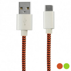 USB-C-Kabel 2.4A 1 m Grün