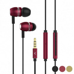 Headphones with Microphone Go & Play Sky Aluminium Red