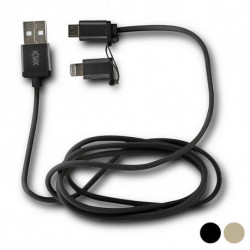 USB Cable to Micro USB and Lightning Gold