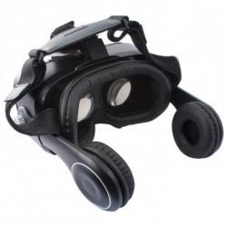 Virtual Reality Brille mit Kopfhörern Schwarz
