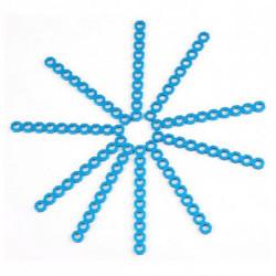 Makeblock Kurzer Steckverbinder, schneidbar 8 cm Blau (10 Uds)