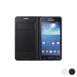 Samsung Flip Wallet für Galaxy Core LTE G386F Weiß
