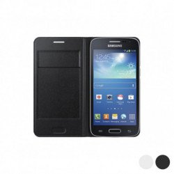 Samsung Flip Wallet per Galaxy Core LTE G386F Bianco
