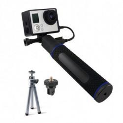 Selfie Stick con Power Bank per Fotocamera Sportiva 5200 mAh Nero