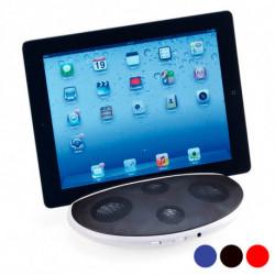 Haut-parleur avec Support pour Téléphone Portable ou Tablette 2W 143745 Rouge