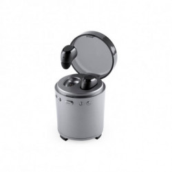 Auriculares Bluetooth con Micrófono FM USB 3W Plateado 146192 Plateado