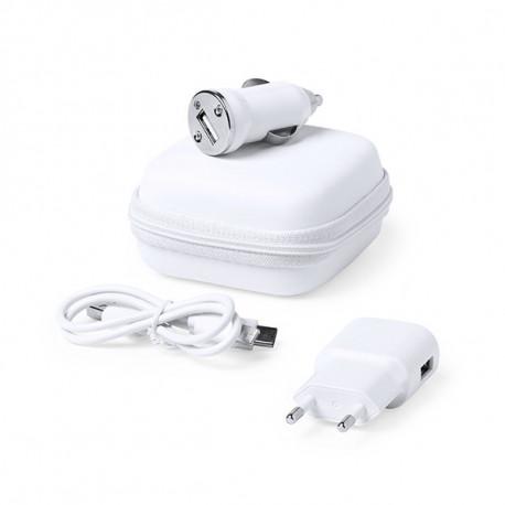 Ladegerät-Satz USB 1000 mAh Weiß 146091 Weiß