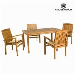 Conjunto de mesa com 4 cadeiras Teca (150 x 90 x 75 cm) by Craftenwood