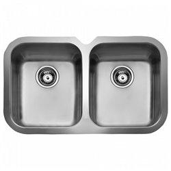 Lavello a Due Vasche Teka 10125150 BE 2C 765 Acciaio inossidabile