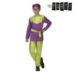 Costume per Bambini Paggio Viola (4 Pcs) 7-9 Anni