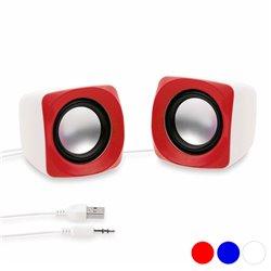 Mini Altoparlanti 3W 144083 Rosso