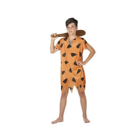 Costume per Bambini Cavernicolo Arancio (1 Pc) 7-9 Anni