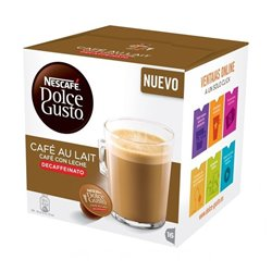 Capsule di caffè Nescafé Dolce Gusto 97934 Café Au Lait (16 uds) Decaffeinato