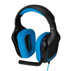 Auricolari con Microfono Gaming Logitech 981-000537 USB (3.5 mm) Nero Azzurro
