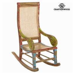 Sedia a Dondolo Legno di mindi (113 x 110 x 55 cm) by Craftenwood