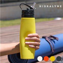 Hidralyne Silikonflasche für Sportler Weiß