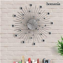 Reloj de Pared Metálico con Cristales Homania