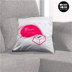 Funda para Cojines Tecla de Ordenador Oh My Home Rosa