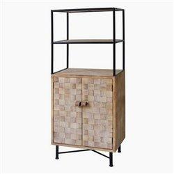 Scaffale Metallo e legno di abete (145 X 60 x 38 cm)