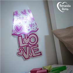 Adesivo da Parete con LED Cuori Romantic Items