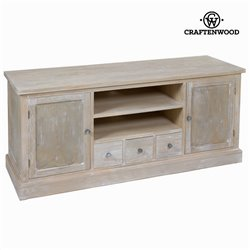 TV Table Pine Mdf Paolownia wood (150 x 50 x 66 cm) - Natural Collection by Craftenwood