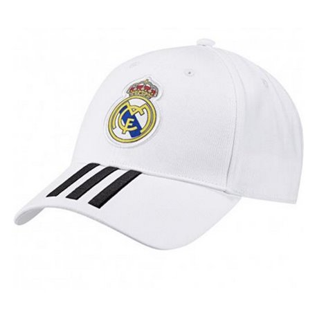 Cappello Sportivo Adidas Real Madrid 3 Stripes Bianco