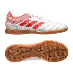 Scarpe da Calcio a 5 per Bambini Adidas Copa 19.3 In Bianco Rosso 29