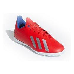 Scarpe da Calcio Multitacchetti per Bambini Adidas X 18.4 TF J Rosso 37 1/3 (EU) - 4,5 (UK)