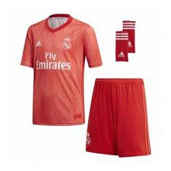Set di Attrezzatura da Calcio per Bambini Adidas Real Madrid Rosso 18/19 (3ª) (3 Pcs) 14-16 Anni