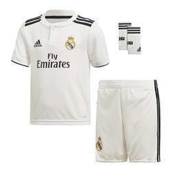 Set di Attrezzatura da Calcio per Bambini Adidas Real Madrid Bianco 18/19 (1ª) (3 Pcs) Taglia - 12-13 Anni