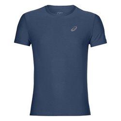 Asics Camiseta de Manga Corta Hombre SS TOP Azul oscuro (Talla s - us)