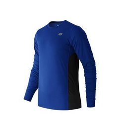 New Balance Herren Langarm-T-Shirt ACCELERATE Blau M