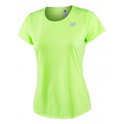 New Balance Women's Short Sleeve T-Shirt ACCELERATE Yellow Fluorescent XS