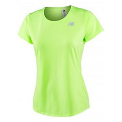 New Balance T-shirt à manches courtes femme ACCELERATE Jaune Fluorescent XS
