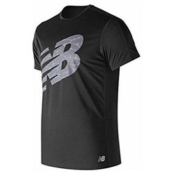 New Balance Herren Kurzarm-T-Shirt ACCELERATE PRINT Schwarz L