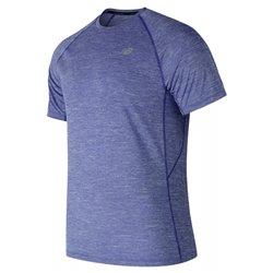New Balance T-shirt à manches courtes homme MT81095 TRY Bleu S