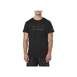 Asics T-shirt à manches courtes homme GRAPHIC SS TOP Noir S