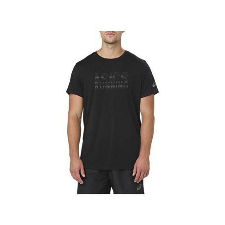 Asics Herren Kurzarm-T-Shirt GRAPHIC SS TOP Schwarz S