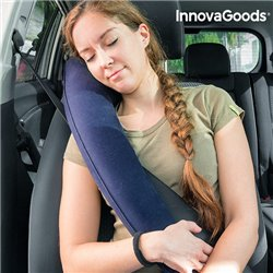 Almohada de Viaje Hinchable con Sujeción para Asientos InnovaGoods