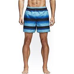 Costume da Bagno Uomo Adidas Stripe Sh Sl Nero Azzurro (Taglia xl)