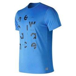 New Balance Herren Kurzarm-T-Shirt Prnt Acclrt Blau (Größe xl)