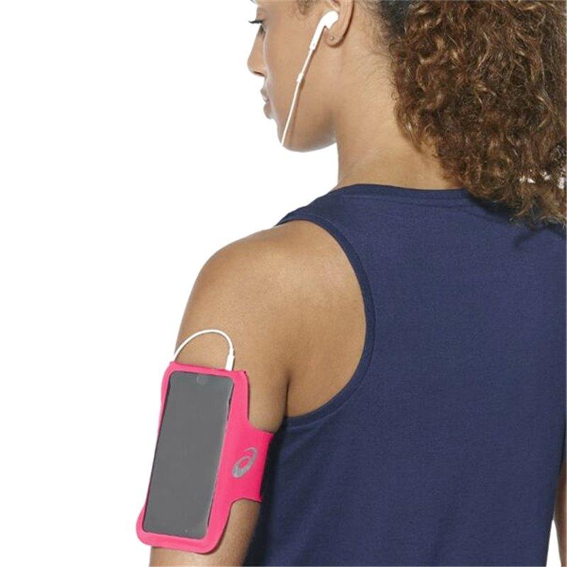Asics Sports Armband with Headphone Output MP3 Arm Tube Pink