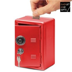 Cofre Caixa Forte de Metal Vermelho